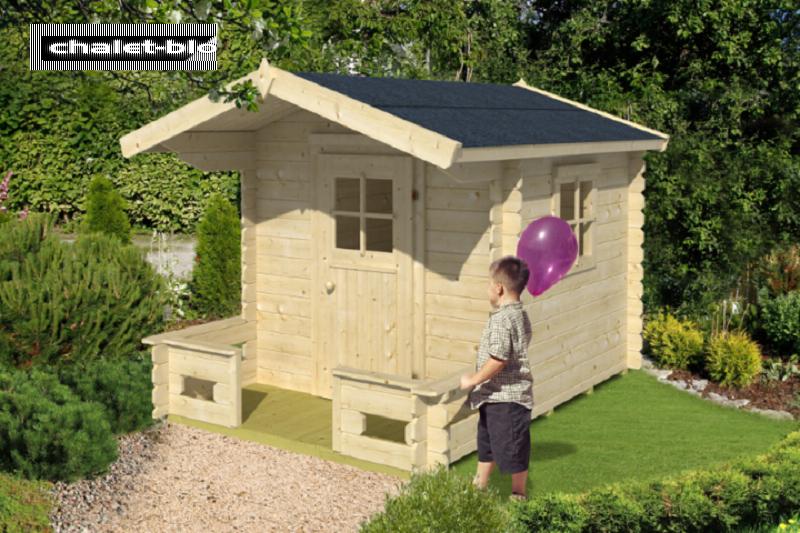 kinderspielhaus finnland mit boden und fundament 21 mm 190cm x 260cm inkl dachpappe vom. Black Bedroom Furniture Sets. Home Design Ideas