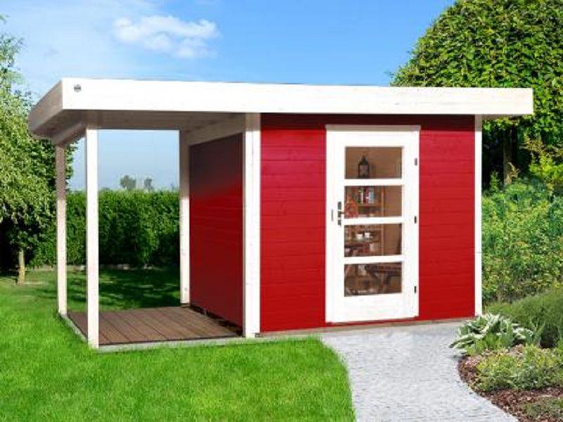 385 x 300cm weka designhaus 172 a gr 2 schwedenrot 28 mm. Black Bedroom Furniture Sets. Home Design Ideas