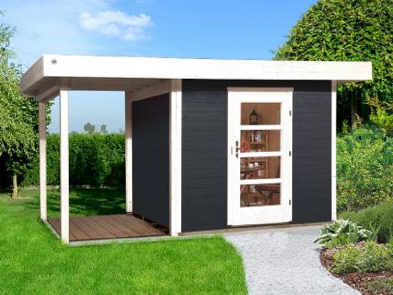 Weka Designhaus 172 : 385 x 300cm weka designhaus 172 a gr 2 anthrazit 28 mm einzelt r anbau 150 cm ohne rw vom ~ Whattoseeinmadrid.com Haus und Dekorationen