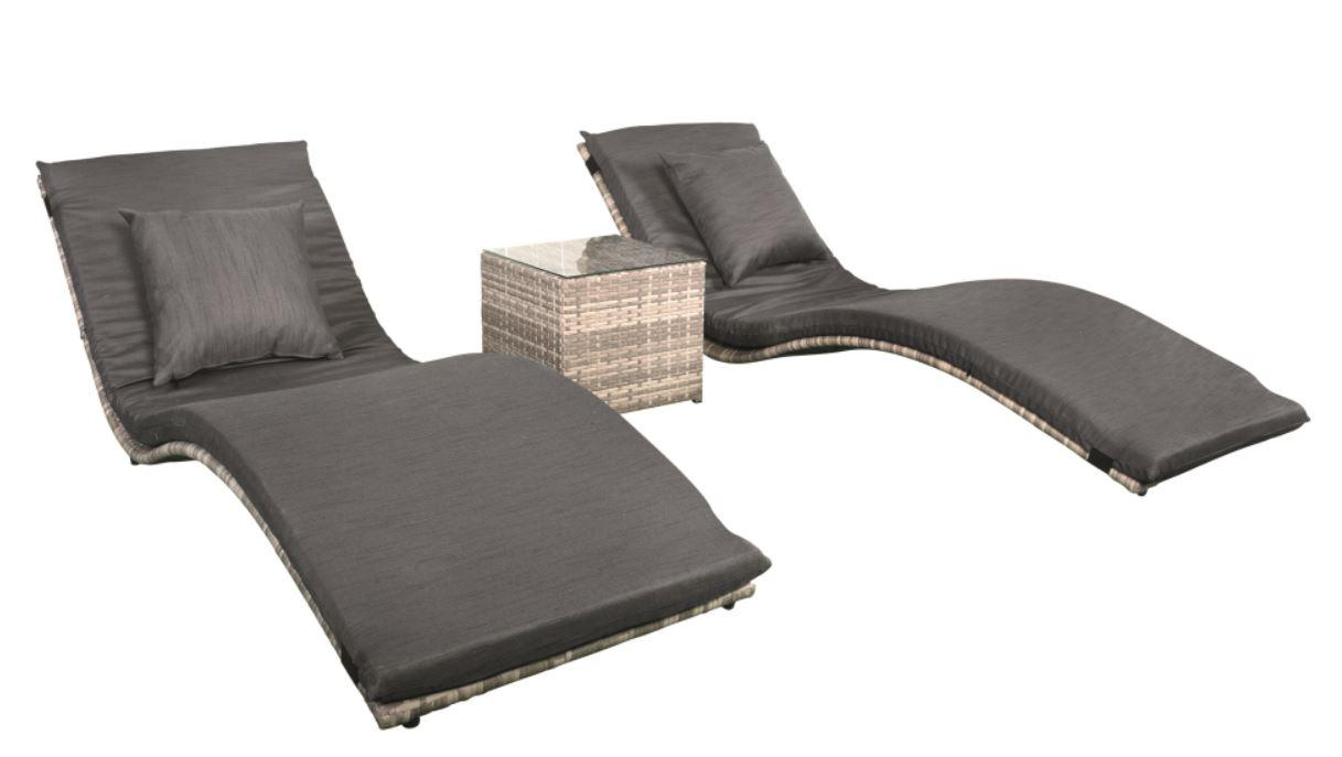 Lounger Set Wicker Lancaster