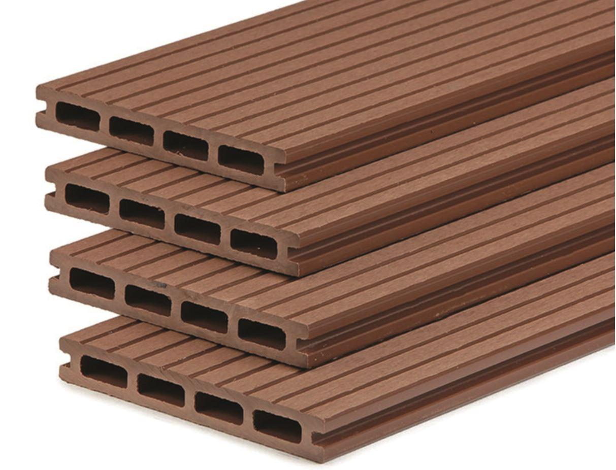 Premium WPC Terrassendiele 2.1x15.0x400cm red-wood