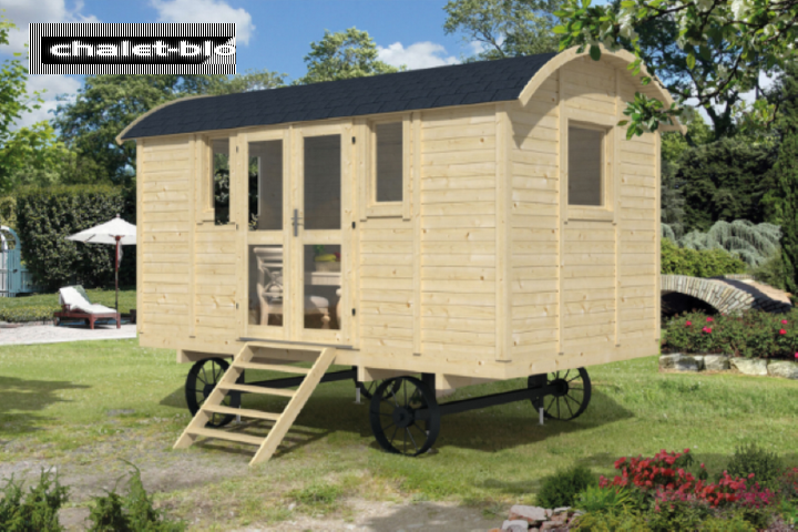 gartenhaus vorgefertigter bauwagen mit seiteneingang 19mm. Black Bedroom Furniture Sets. Home Design Ideas