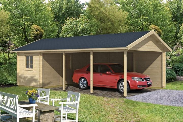 gartenhaus carport schuppen ever 45mm 810cm x 470cm vom. Black Bedroom Furniture Sets. Home Design Ideas