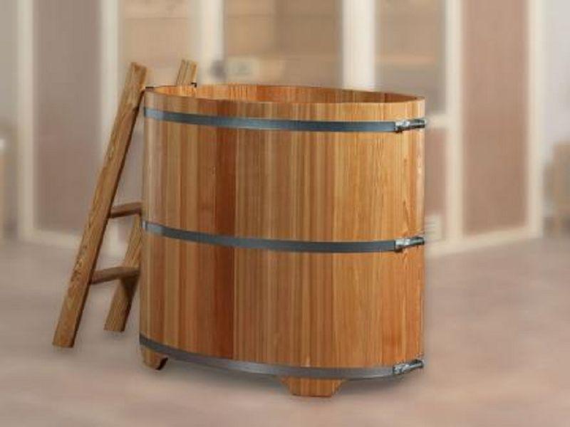 tauchbottich aus l rchenholz vom steinfigur und gartenhaus. Black Bedroom Furniture Sets. Home Design Ideas