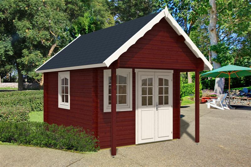 blockhaus bunkie mit schlafboden 290 x 380 100 cm vom. Black Bedroom Furniture Sets. Home Design Ideas