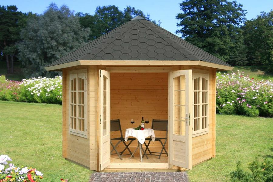Pavillon Hanna 7.6 m2 FSC Mix 70%  34mm  Ø303cm