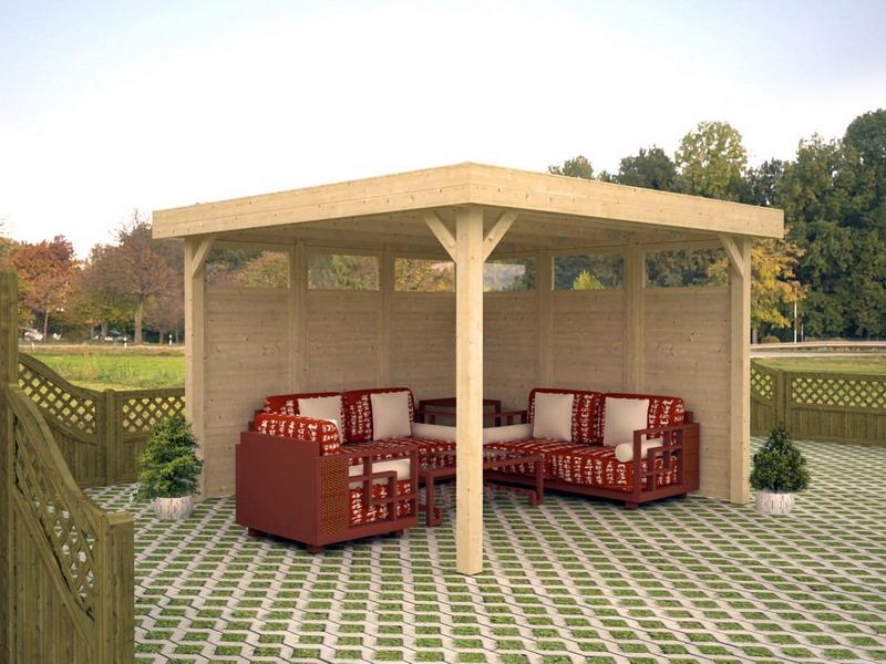 Pavillon Betty Lucy 12,2 m2  349x349cm