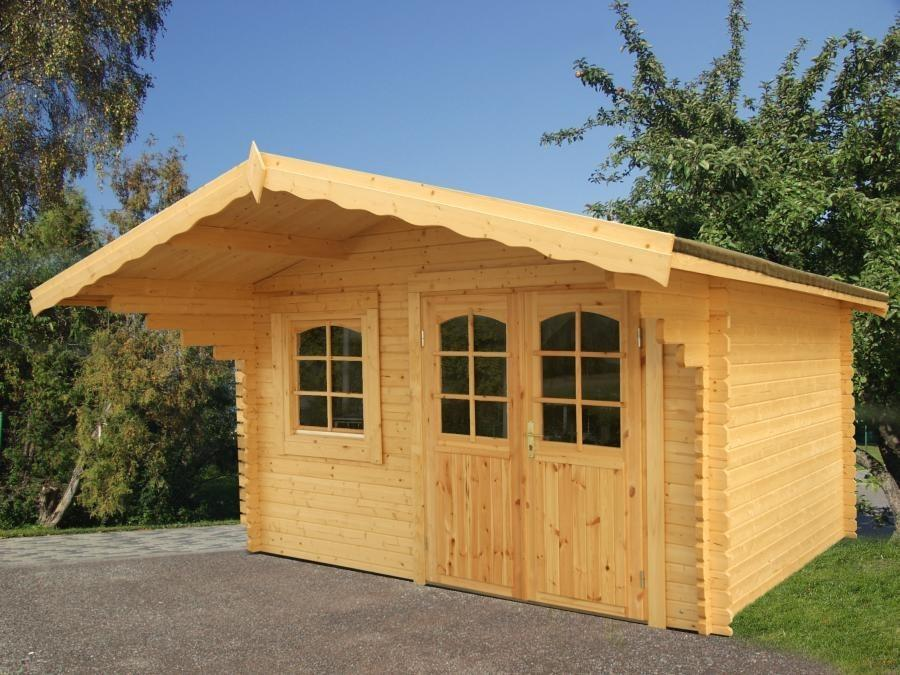 Gartenhaus Sally 12.3m2 44mm 380x380cm Isolierverglast