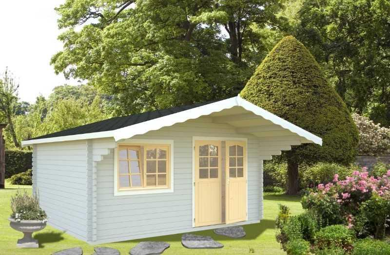 Gartenhaus Sally 15.5m2 44mm 470 x 380 cm Isolierverglast