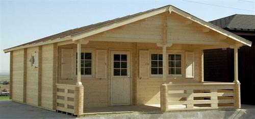 gartenhaus toledo d 70mm 595x747cm ferienhaus mit. Black Bedroom Furniture Sets. Home Design Ideas