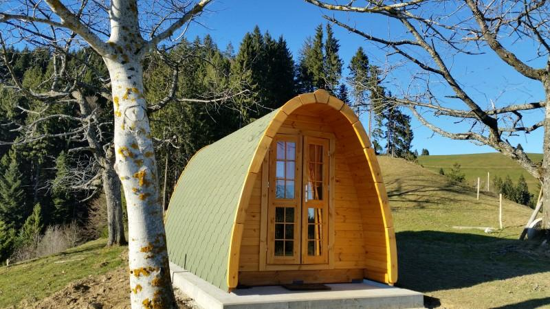 Camping Pod-Deluxe 240cm x 550cm inkl.100mm Isolierung, Campinghaus