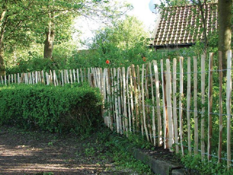 Gartenzaun englische Kastanie 460 x 90 (2 Drähte) vom Steinfigur ...