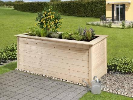 205 x 80cm profi hochbeet 669 c natur 28 mm vom steinfigur und gartenhaus shop. Black Bedroom Furniture Sets. Home Design Ideas