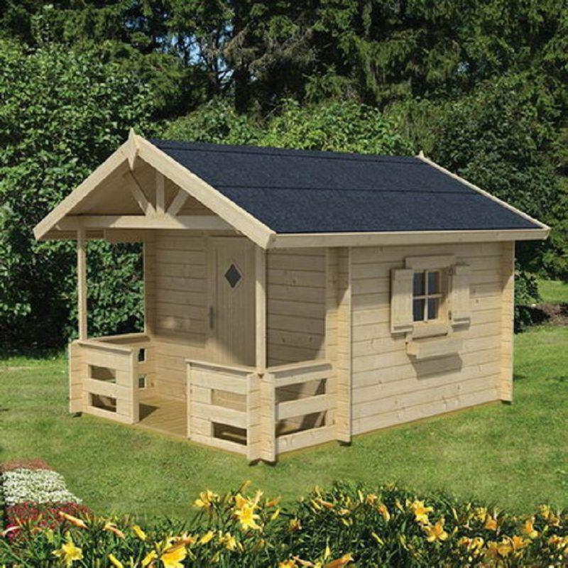 kinder spielhaus lido mit terrasse sandra kinderspielhaus. Black Bedroom Furniture Sets. Home Design Ideas