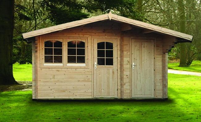 gartenhaus pedro b 70mm 500x350cm 2 r ume ferienhaus aus blockbohle vom steinfigur und. Black Bedroom Furniture Sets. Home Design Ideas