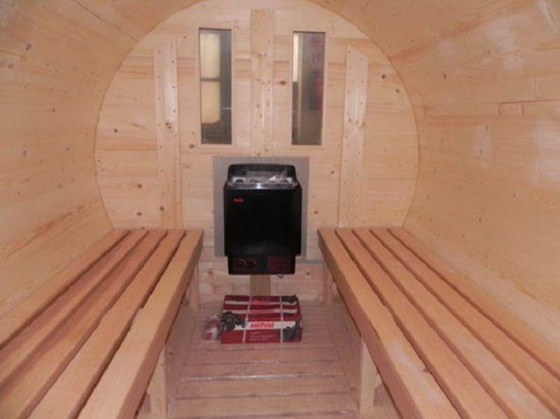 saunafass geschlossener vorraum vom steinfigur und gartenhaus shop. Black Bedroom Furniture Sets. Home Design Ideas