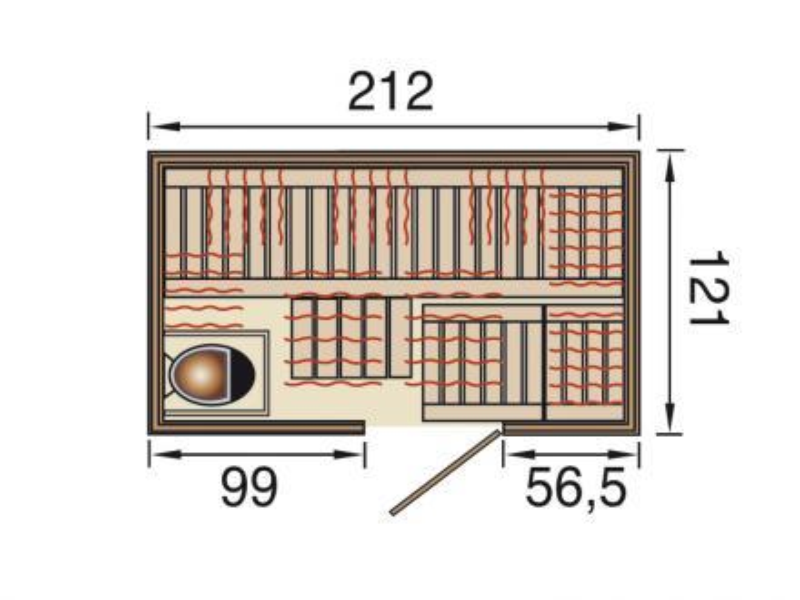 ir sauna kombikabine classic fs kombikabine vom. Black Bedroom Furniture Sets. Home Design Ideas