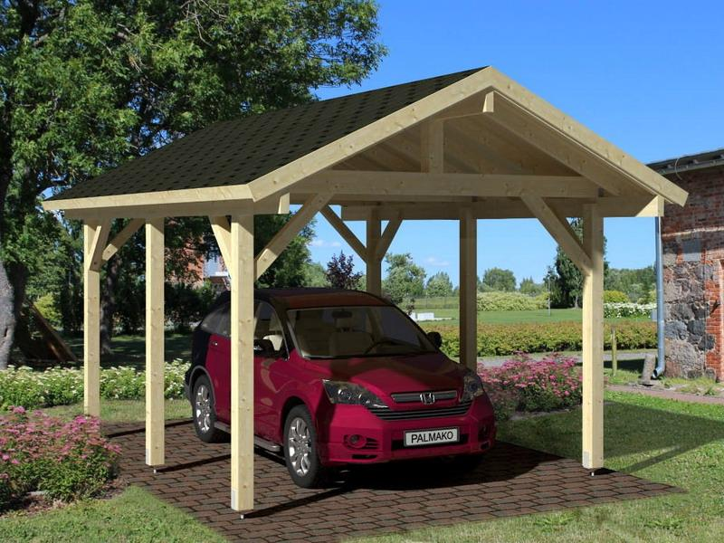 carport bois optima duo 2 voitures. Black Bedroom Furniture Sets. Home Design Ideas