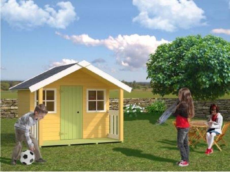 kinderspielhaus felix 16mm vom steinfigur und gartenhaus shop. Black Bedroom Furniture Sets. Home Design Ideas