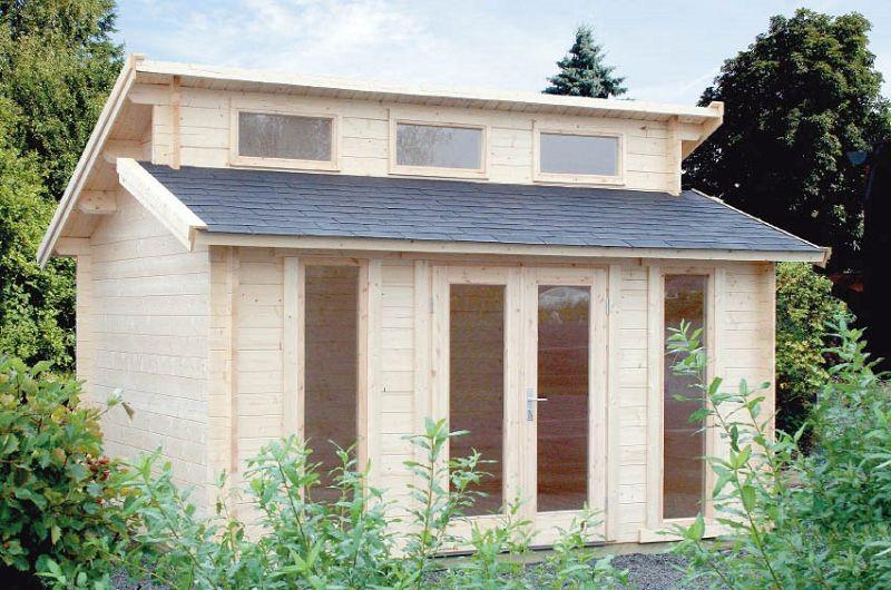 gartenhaus stufendach langeoog 40mm 410x410cm vom steinfigur und gartenhaus shop. Black Bedroom Furniture Sets. Home Design Ideas