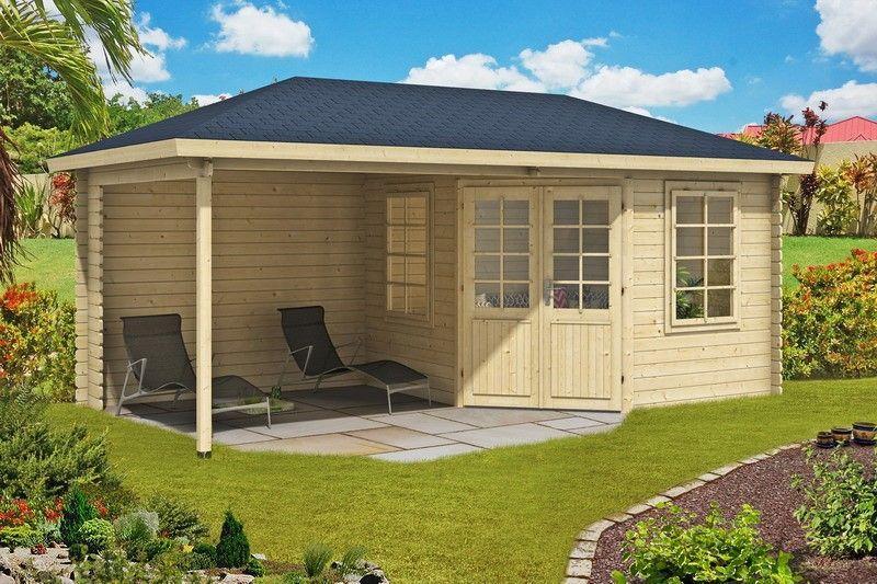 gartenhaus catania 40mm 576x300cm vom steinfigur und gartenhaus shop. Black Bedroom Furniture Sets. Home Design Ideas