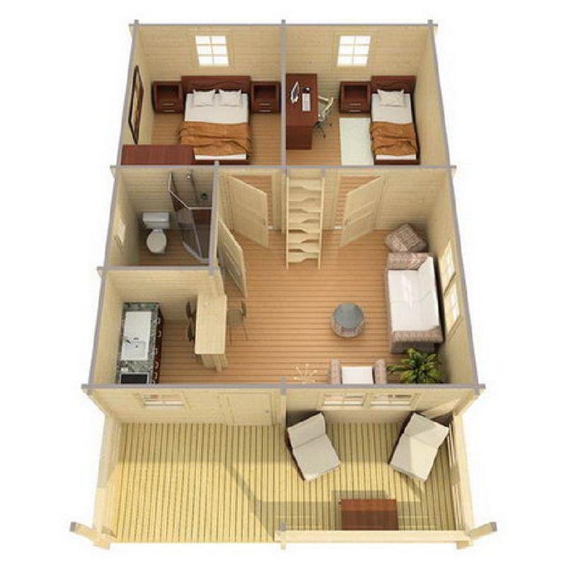 gartenhaus toledo a 58mm 595x646cm ferienhaus holzhaus vom. Black Bedroom Furniture Sets. Home Design Ideas